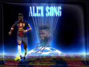 Alex Song Barcelona Wallpaper