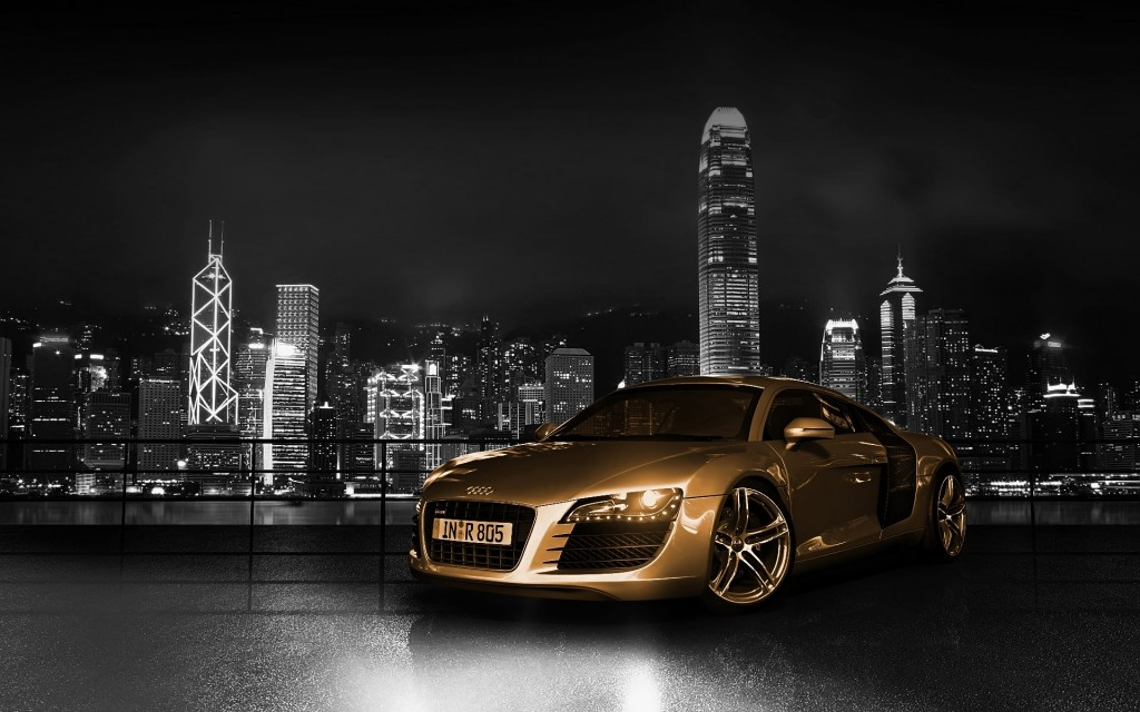 Audi R8 Gold HD Wallpaper