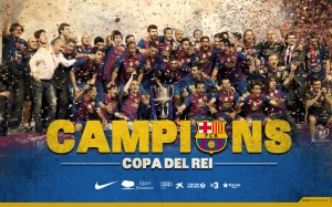 FC Barcelona Champion HD Wallpaper