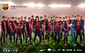 First Team Barcelona 2013 Wallpaper