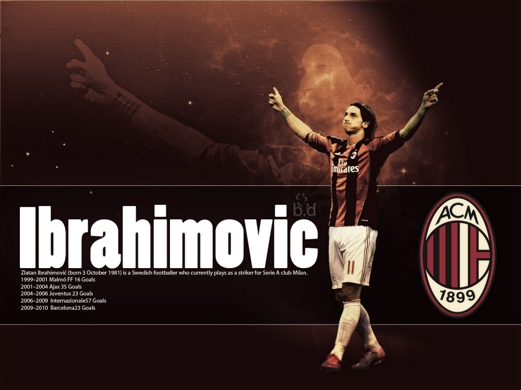 Zlatan Ibrahimovic AC Milan HD Wallpaper