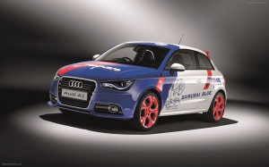 2012 Audi A1 Samurai Blue Wallpapers
