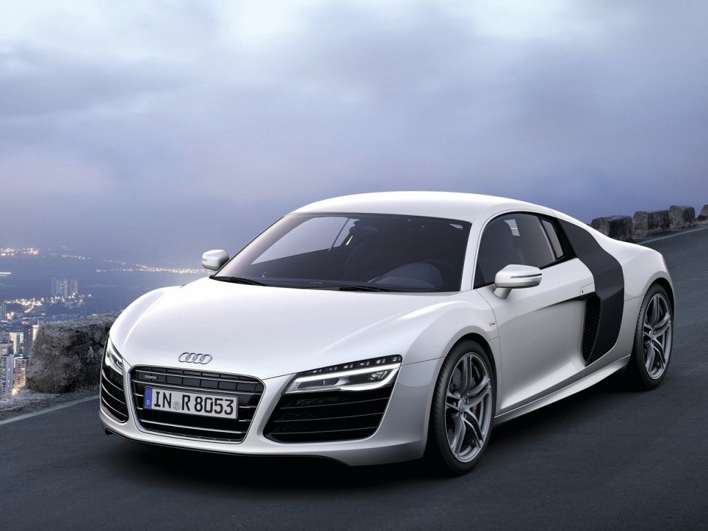 2013 Audi R8 V10 Silver Wallpapers