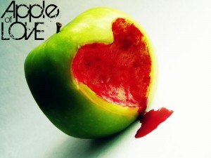 Apple Art Love Wallpaper