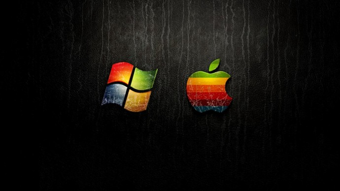 Free Hd Colorful Windows And Apple Wallpaper Background