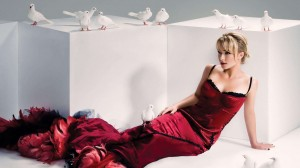 Hayden Panettiere Red Dress Doves HD Wallpaper