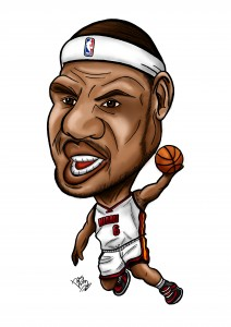 Lebron James Caricature