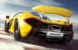 McLaren P1 yellow color