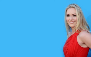 Red Lindsey Vonn 2013 HD Wallpaper