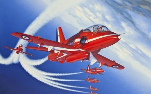 Red Stunt Airplanes 1920x1200 Wallpaper