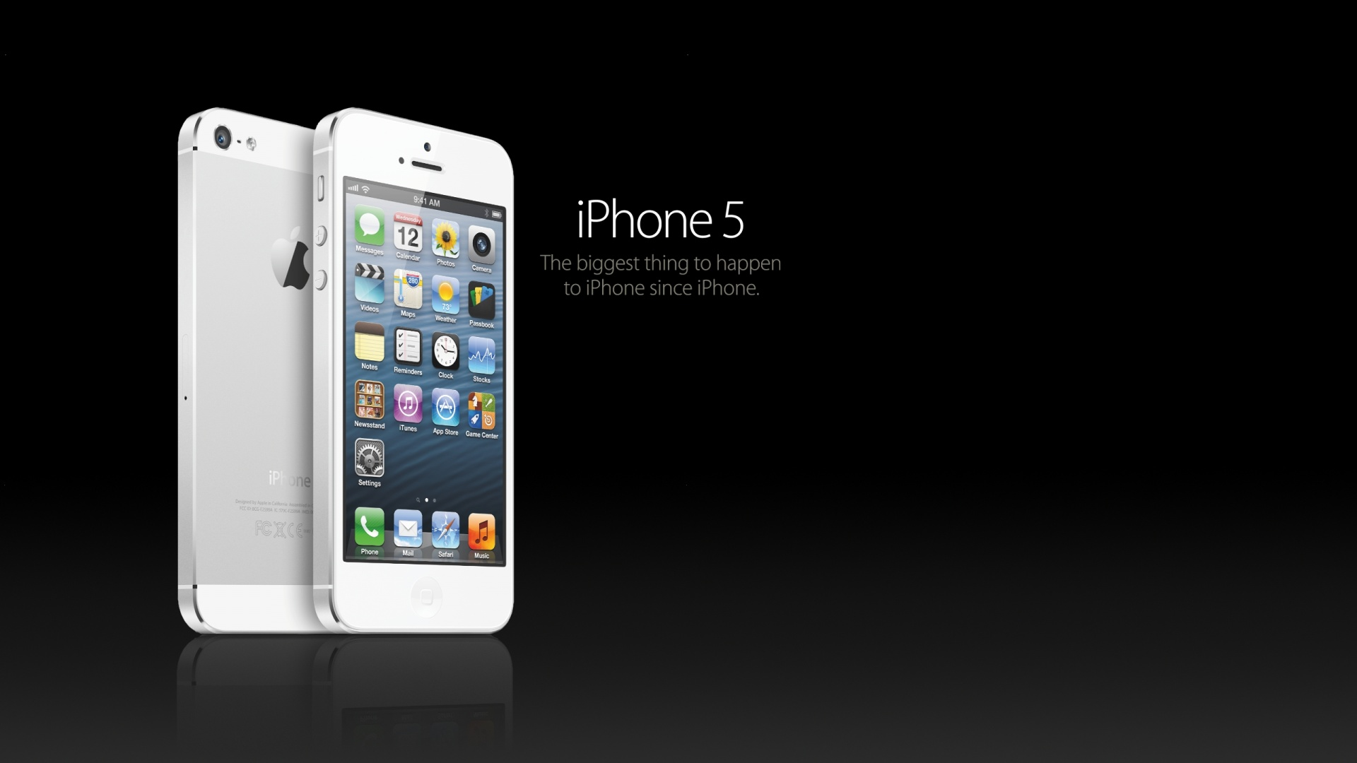 iPhone 5 White HD Wallpaper | ImageBank.biz