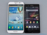 LG Optimus G Pro vs Sony Xperia Z Wallpaper HD