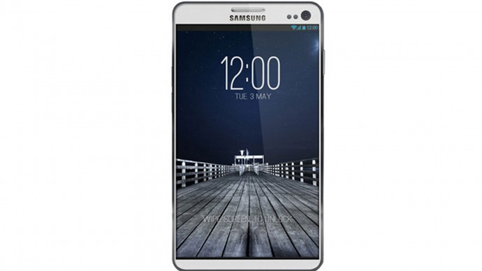 White Samsung Galaxy S4 Wallpaper HD