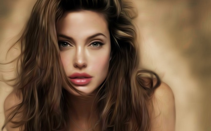 Actress Angelina Jolie Wallpaper HD 2560x1600