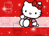 Wallpaper Hello Kitty Red HD Wallpaper