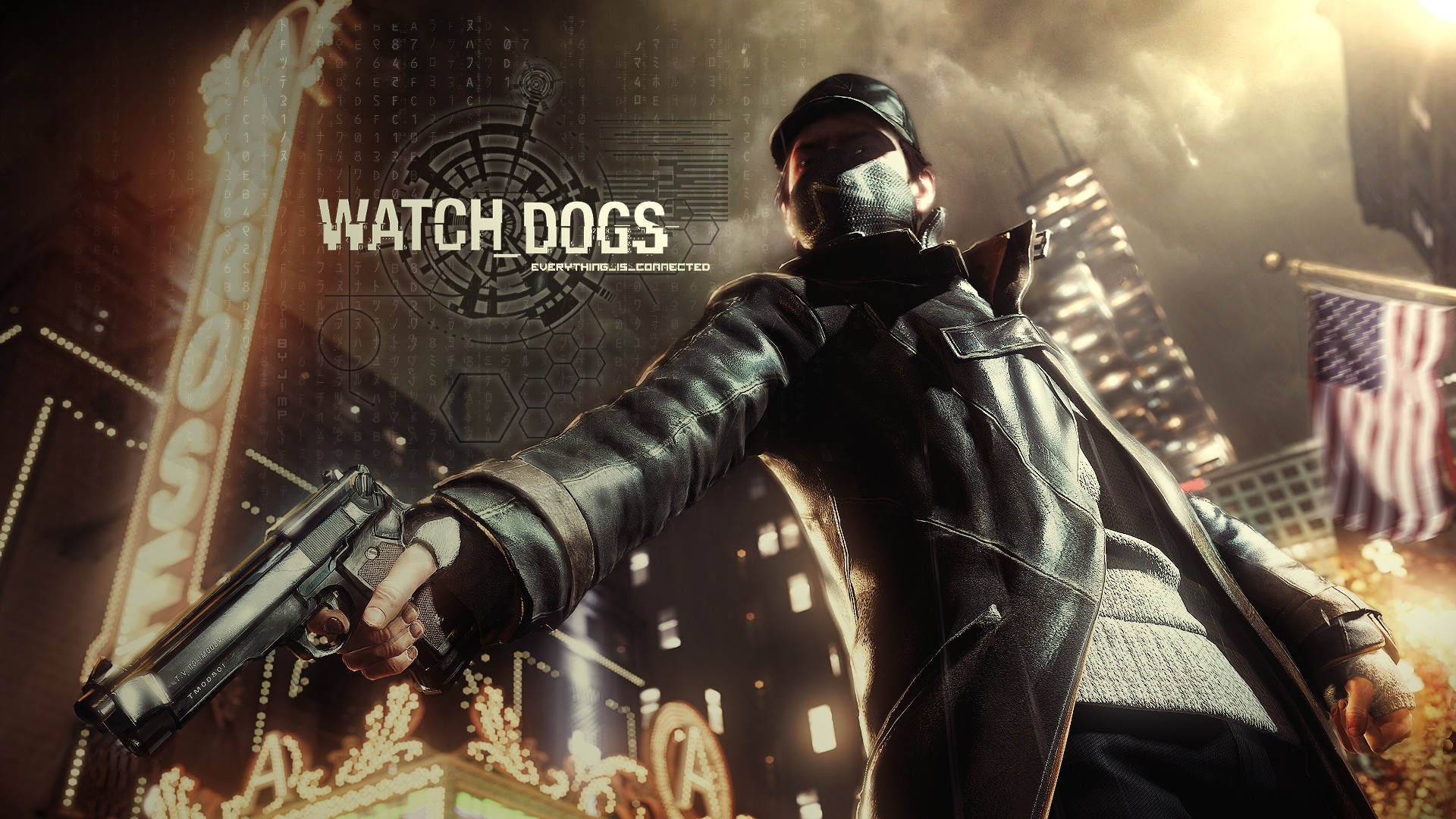 New Watch Dogs Game Cover Aiden Pearce Wallpaper HD for Desktop