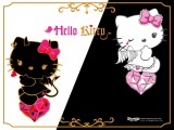 Hello Kitty Black and White Wallpaper