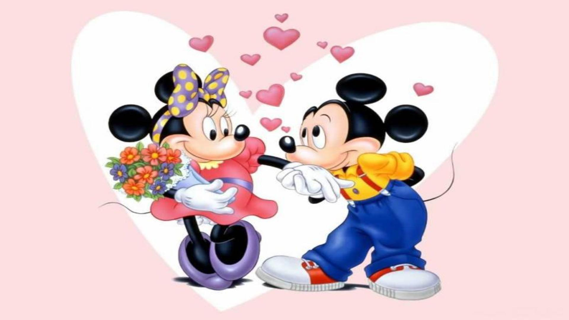 mickey mouse and minnie mouse wallpaper