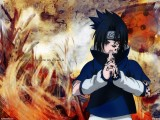 Uchiha Sasuke Cartoon Desktop Wallpaper