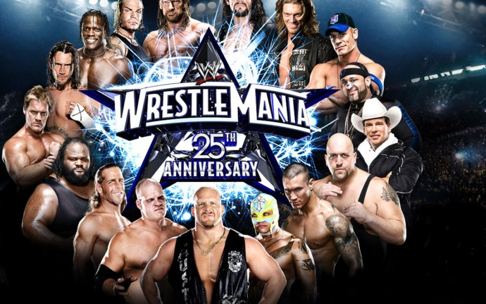 Wrestlemania 25th Anniversary Wallpaper