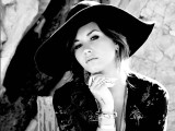 Demi Lovato Black and White Wallpaper