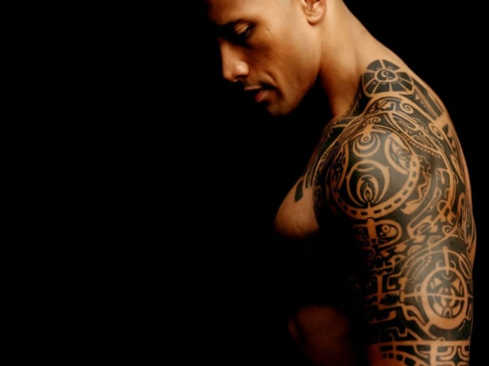Download Dwayne Johnson Tattoo Wallpaper