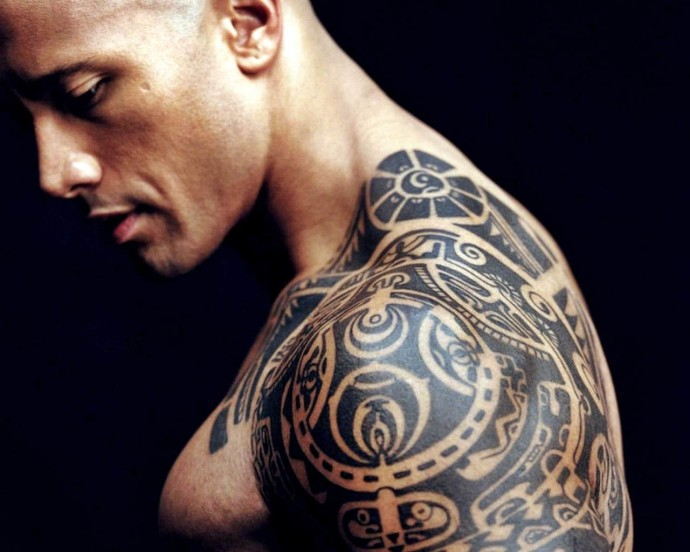 Dwayne Johnson Tattoo Wallpaper