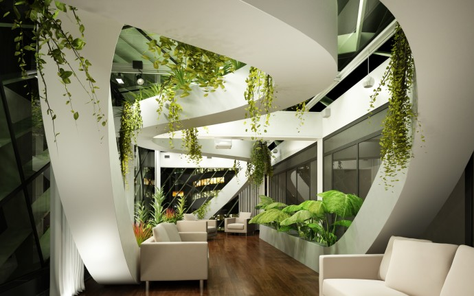 Interior with Plants Wallpapers
