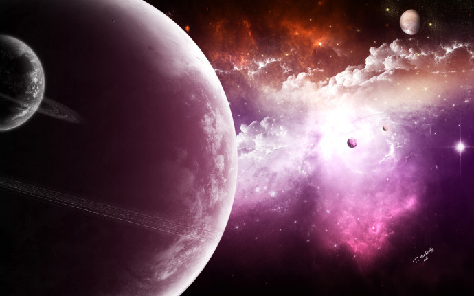 Planet and Stars Wallpapers
