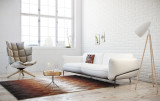 White Sofa Interior Wallpapers