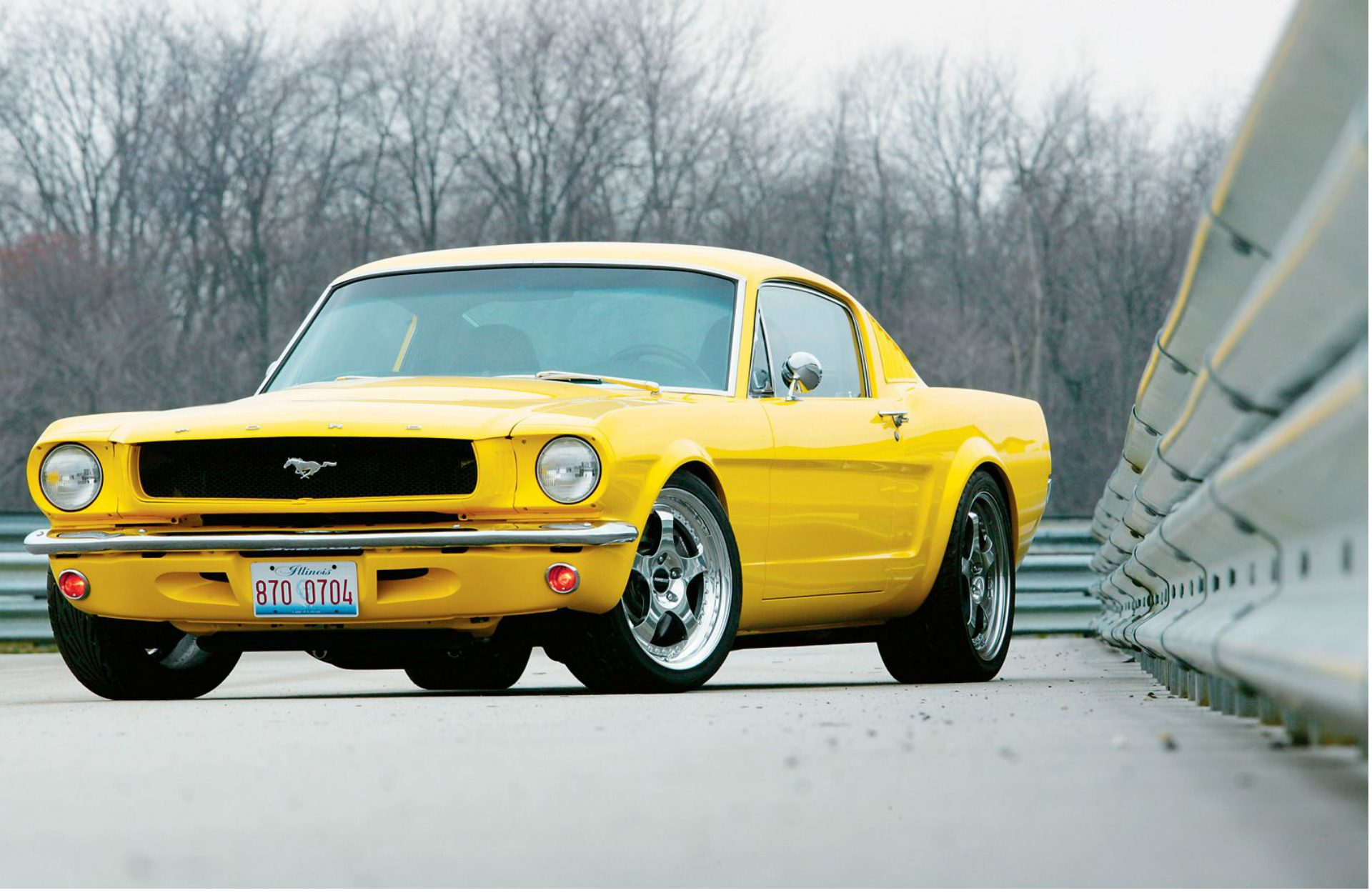 Nice Image Of Ford Mustang 1965, Wallpaper Of Yellow