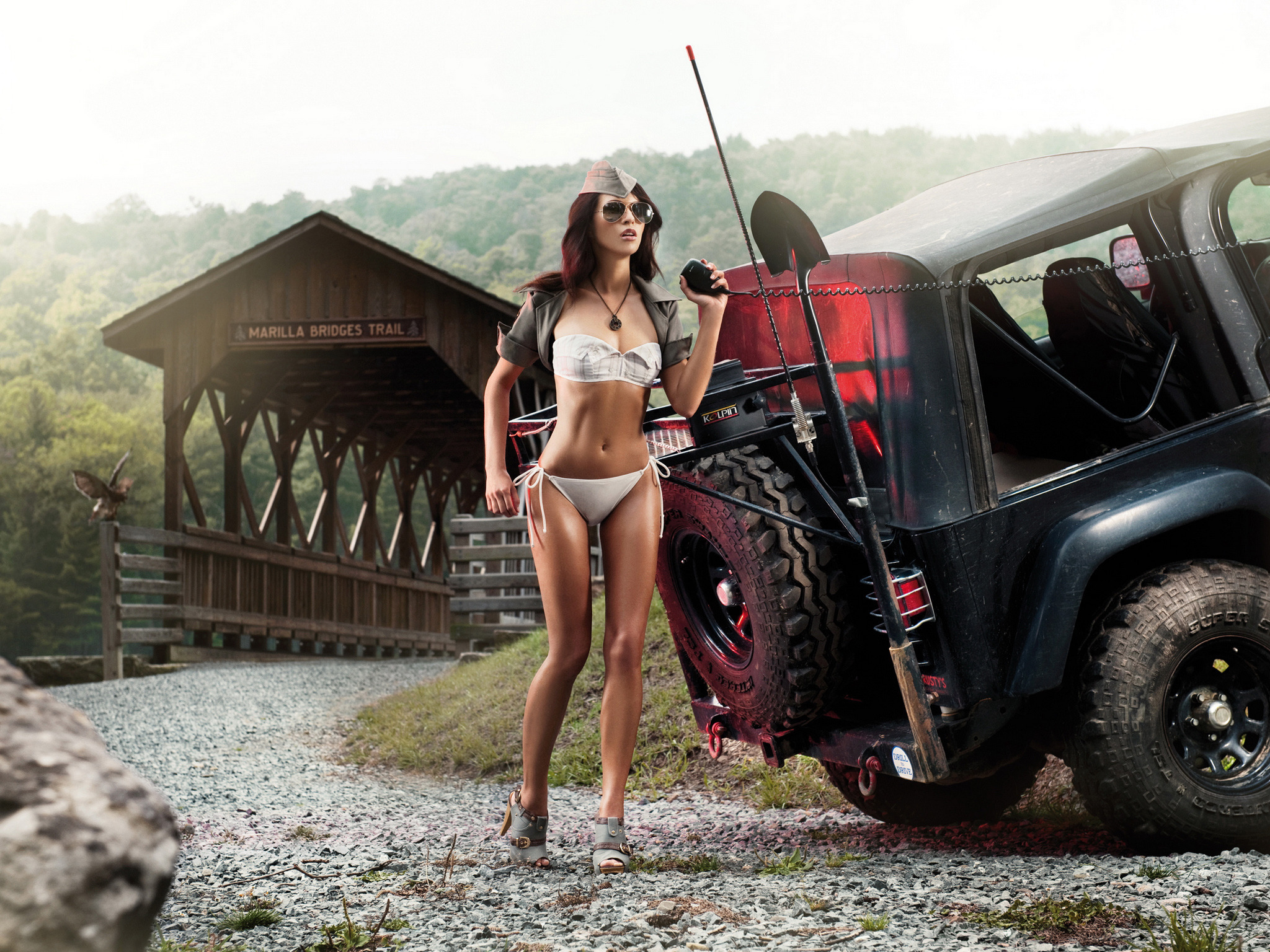 Girls and trucks wallpapers