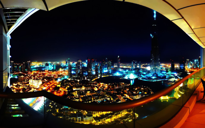 Best photo of night lights photo of balcony 1920 1200 px for Balcony view wallpaper