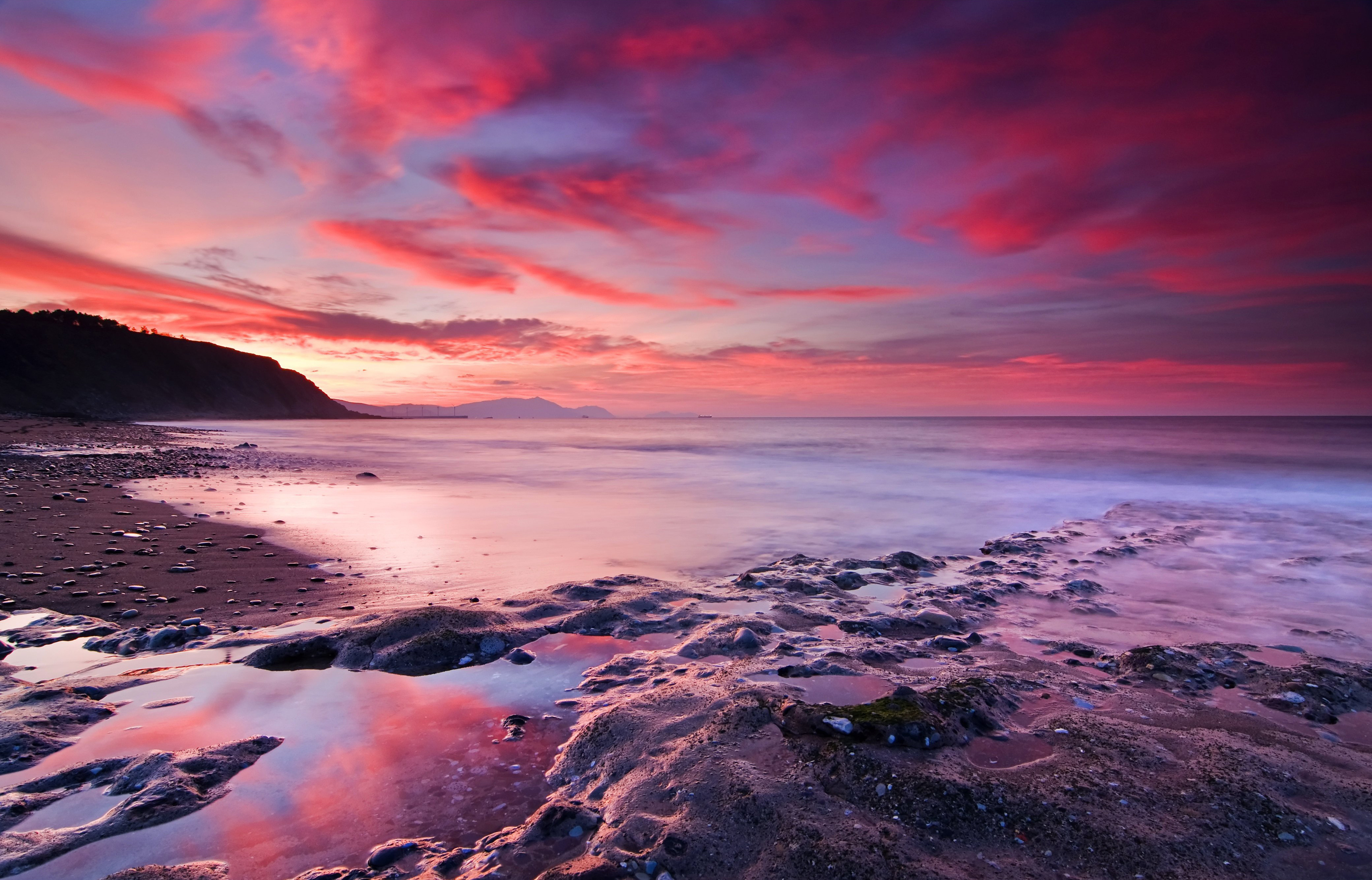 High resolution wallpaper of sky, photo of sunset, red sea ...