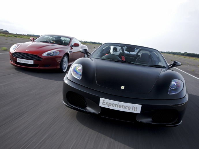 Nice Image Of Aston Martin Vantage, Photo Of Ferrari F430