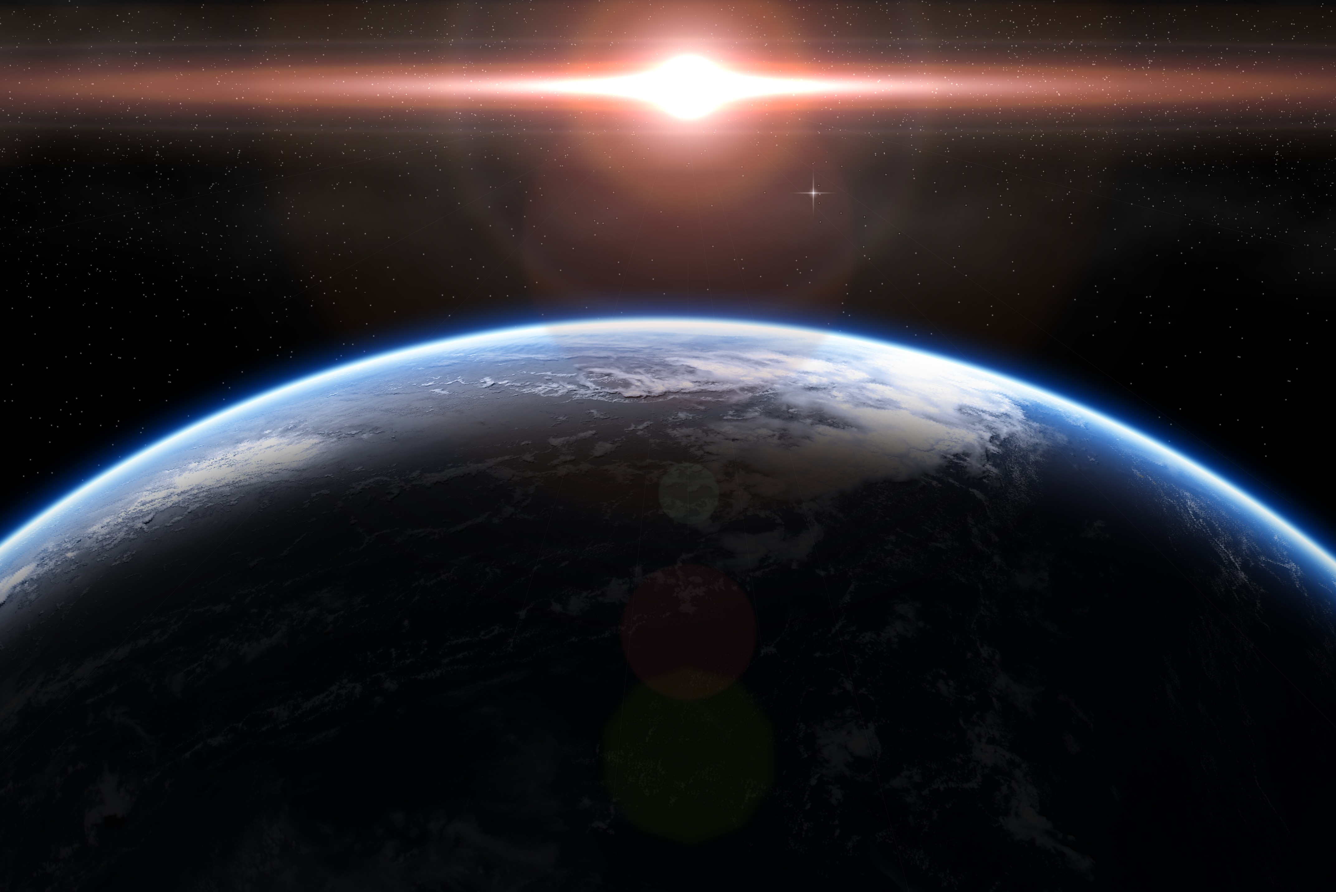Cool Image Of Planet Surface, Wallpaper Of The Atmosphere