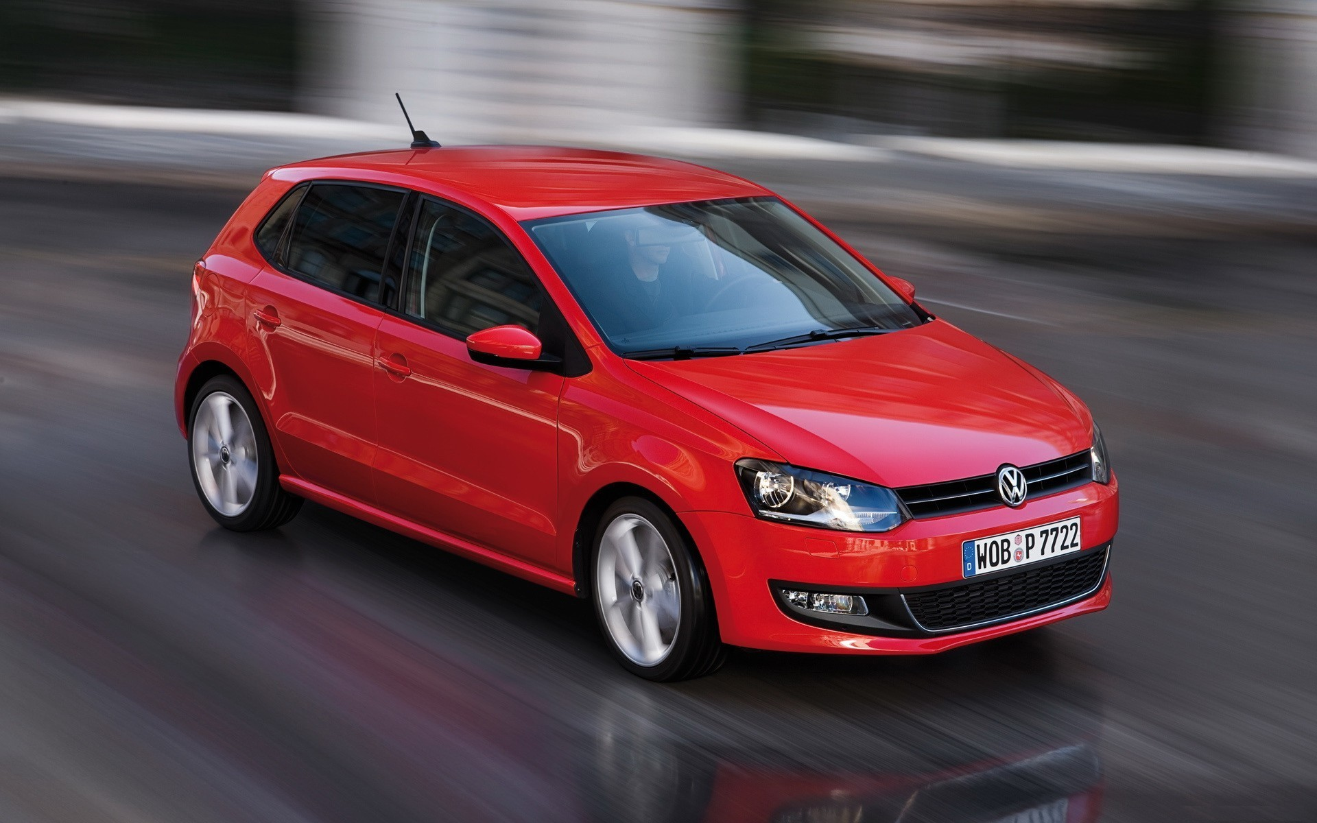 Beautiful Picture Of Volkswagen Polo Picture Of Car Red Imagebank Biz