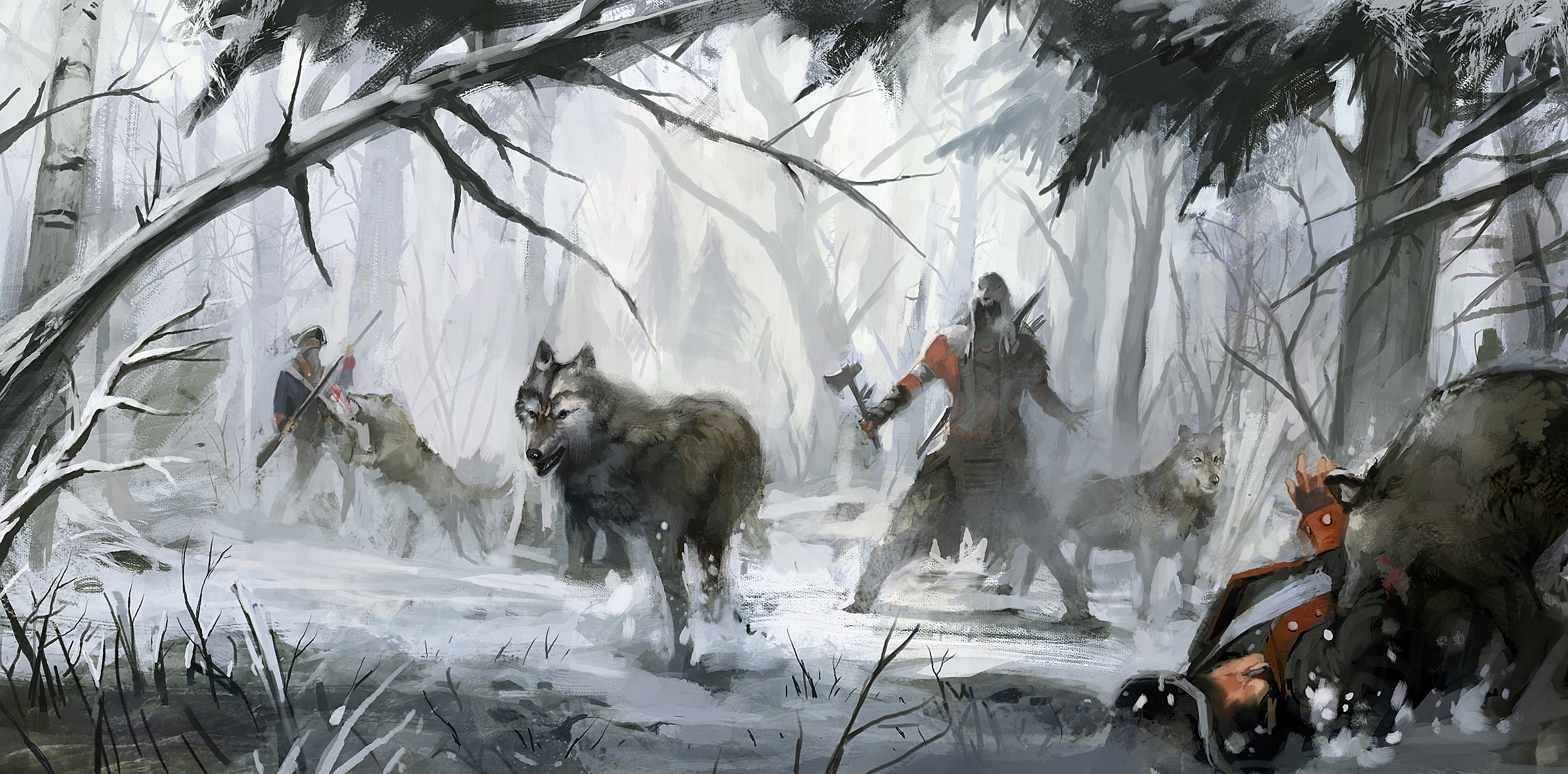 Beautiful Photo Of Assassins Creed 3 Wallpaper Of Connor Forest