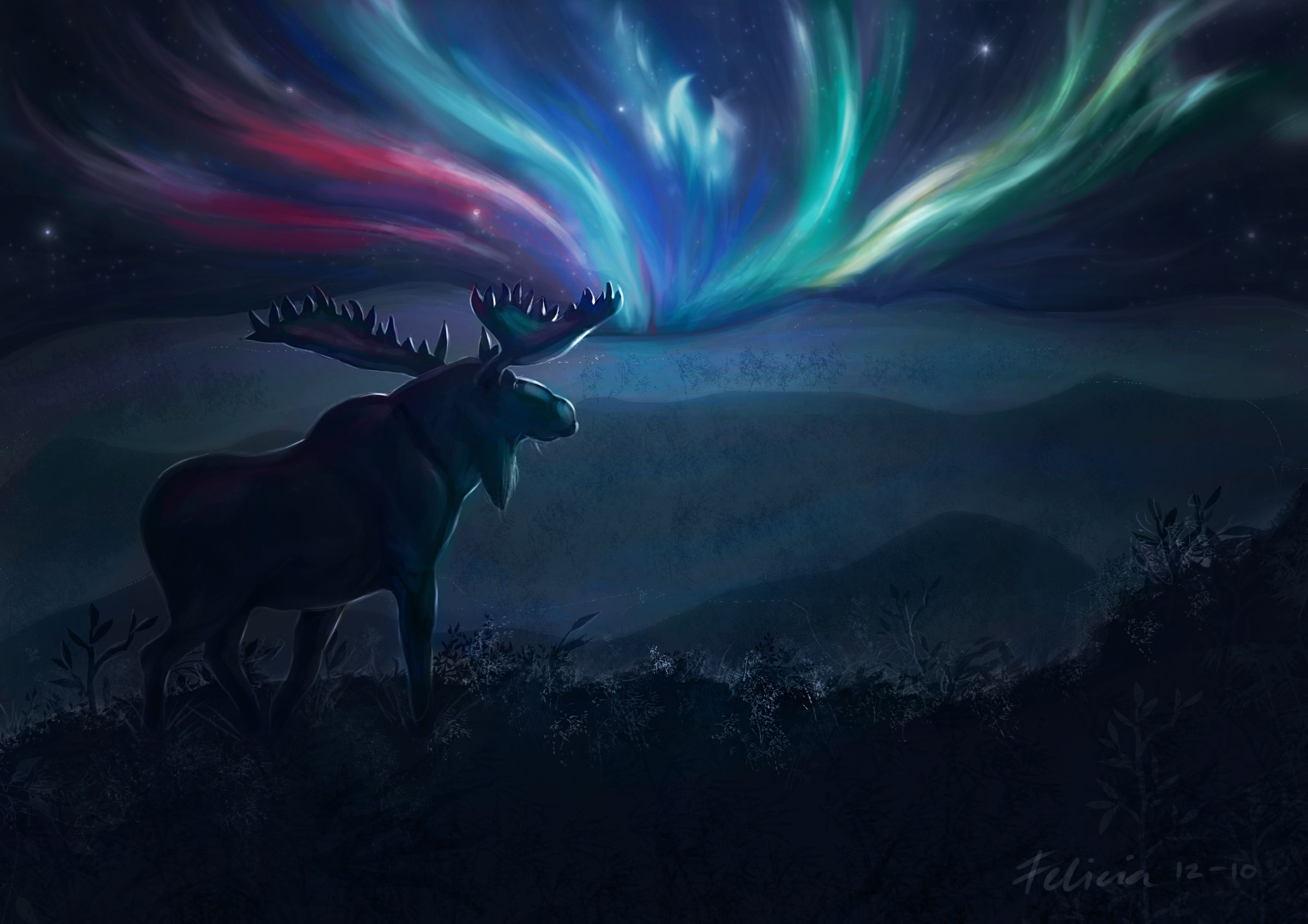 Cool Photo Of Art, Image Of Elk, Horns