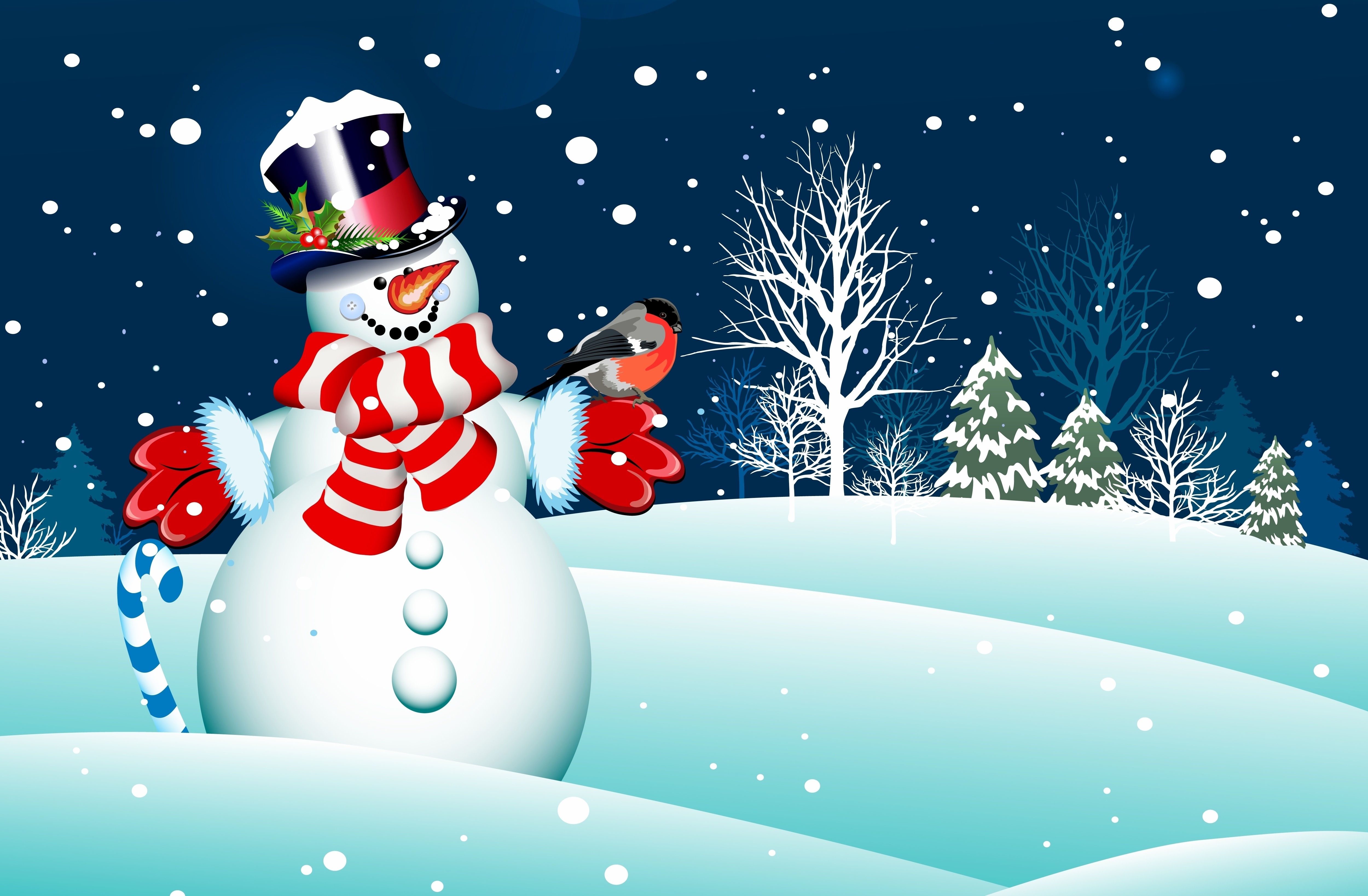 Cool picture of new year wallpaper snowman merry